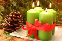 Weihnachtencandĺes Stockfoto