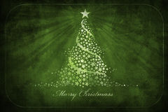 Weihnachtengrunge Grußkarte Lizenzfreie Stockfotos