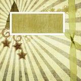 Weihnachtengrunge Hintergrund Lizenzfreies Stockfoto