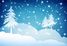 Weihnachtengrunge Hintergrund Lizenzfreies Stockbild