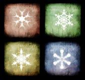 Weihnachtengrunge Hintergrund Stockbild
