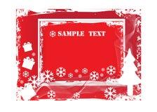 Weihnachtengrunge Hintergrund Lizenzfreie Stockfotografie