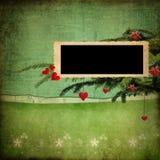Weihnachtengrunge Hintergrund Stockbilder