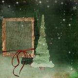 Weihnachtengrunge Hintergrund Lizenzfreie Stockbilder