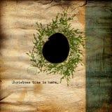 Weihnachtengrunge Hintergrund Stockfotografie