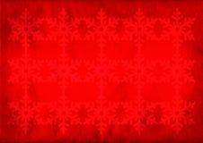 Weihnachtengrunge Schneeflockehintergrund Stockbild