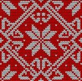 Weihnachtenknittng Muster Lizenzfreies Stockbild