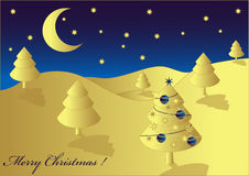 Weihnachtenlanscape, Vektor stock abbildung