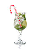 WeihnachtenMojito Cocktail lizenzfreie stockbilder
