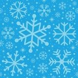 Weihnachtennahtloses patern - hellblau lizenzfreies stockbild