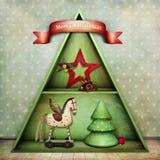 Weihnachtenschelf stock abbildung