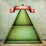 Weihnachtenschelf lizenzfreie stockfotos