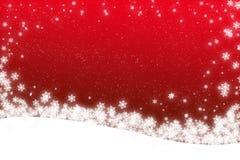 Weihnachtenschnee-Szenenkarte Stockbilder