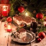 Weihnachtentiramisu Stockbild