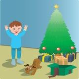 Weihnachtsüberraschung Lizenzfreie Abbildung