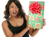 Weihnachtsüberraschung lizenzfreies stockbild