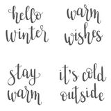 Weihnachts-/des neuen Jahres/Winter Beschriftung Stockfotografie