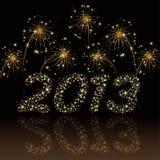Weihnachts-/des neuen Jahreskarte 2013 Lizenzfreie Stockfotografie