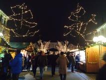 weihnachts markt stock foto's