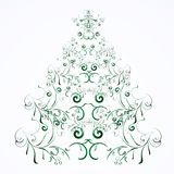 Weihnachts- oder des neuen Jahresblumenbaum Lizenzfreies Stockbild