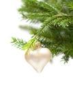Weihnachts- oder des neuen Jahresgrüntanne und -dekor Stockfoto