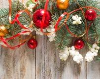 Weihnachts- oder des neuen Jahreshintergrund Stockfoto
