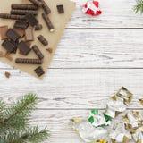 Weihnachts- oder des neuen Jahreskarte Lizenzfreies Stockbild