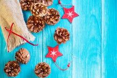 Weihnachts- oder des neuen Jahreskartenschablone Stockfoto