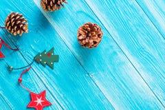 Weihnachts- oder des neuen Jahreskartenschablone Lizenzfreie Stockfotos