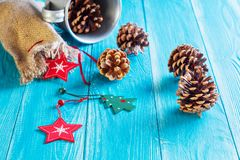 Weihnachts- oder des neuen Jahreskartenschablone Lizenzfreie Stockbilder