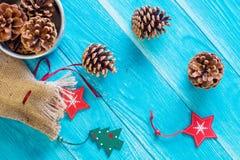 Weihnachts- oder des neuen Jahreskartenschablone Stockbild