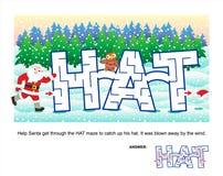Weihnachts- oder des neuen Jahreslabyrinthspiel für Kinder Lizenzfreie Stockbilder