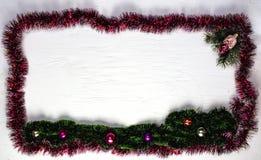 Weihnachts- oder des neuen Jahresrahmen Lizenzfreies Stockfoto