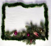 Weihnachts- oder des neuen Jahresrahmen Lizenzfreies Stockbild