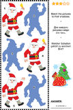 Weihnachts- oder des neuen Jahresschattenspiel mit Santa Claus Lizenzfreies Stockfoto
