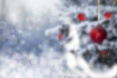 Weihnachts- oder guten Rutsch ins Neue Jahr-Hintergrund Zusammenfassung unscharfes christm lizenzfreie abbildung
