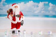 Weihnachts- oder guten Rutsch ins Neue Jahr-Konzept Stockbild