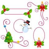 Weihnachts-oder Winter-Ränder lizenzfreie abbildung