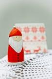 Weihnachts-Sankt-Dekoration Stockfoto
