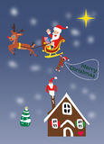 Weihnachts-Sankt-Fliegen Stockbilder