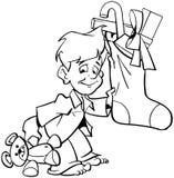 Weihnachts-Sankt-Karikatur Vektor Clipart Stockfoto