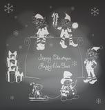 Weihnachts-Santa Elf-Design Stockfoto