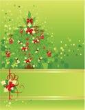 Weihnachts- u. des neuen Jahresgrußkarte Lizenzfreies Stockbild