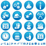 Weihnachts- u. des neuen Jahresikonen Stockbilder