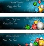 Weihnachts- und des glücklichen neuen Jahreshintergrund Lizenzfreies Stockfoto