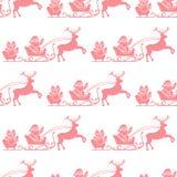 Weihnachts- und des guten Rutsch ins Neue Jahr2019 nahtloses Muster vektor abbildung