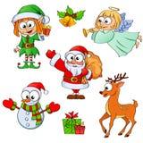 Weihnachts- und des neuen Jahrescharaktere Lizenzfreies Stockbild