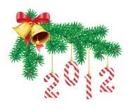 Weihnachts- und des neuen Jahresdekoration Vektor Abbildung