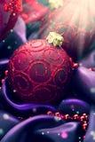 Weihnachts- und des neuen Jahresdekoration Lizenzfreies Stockfoto