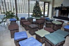 Weihnachts- und des neuen Jahresdekoration Stockfotografie
